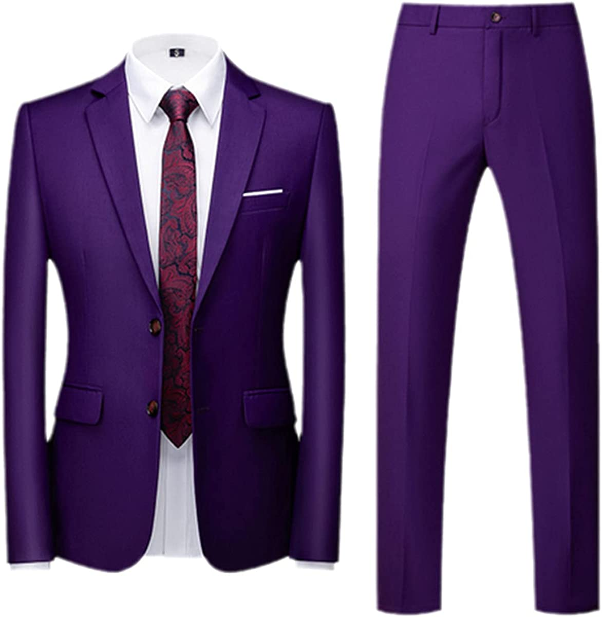 CACLSL Spring and Autumn Fashion Men's Business Casual Solid Color Suit/Male Two Button Suit Jacket