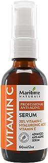 Suero de vitamina C 20% de Maritime Naturals – Sérum Ácido Hiaulurónico – Sérum Antiedad y Antiarrugas – Certificado Orgán...