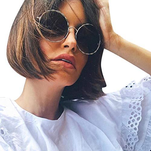 Gafas de sol para hombre y mujer, de Transwen, retro, redondas, protección contra la radiación, polarizadas, con montura de metal