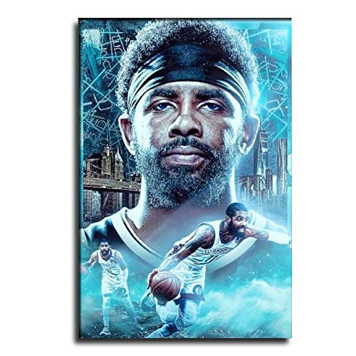 GDFG Brooklyn Nets Basketball Player Kyrie Irving Poster Decorative Painting Canvas Wall Art Living Room Posters Bedroom Painting 12×18inch(30×45cm)