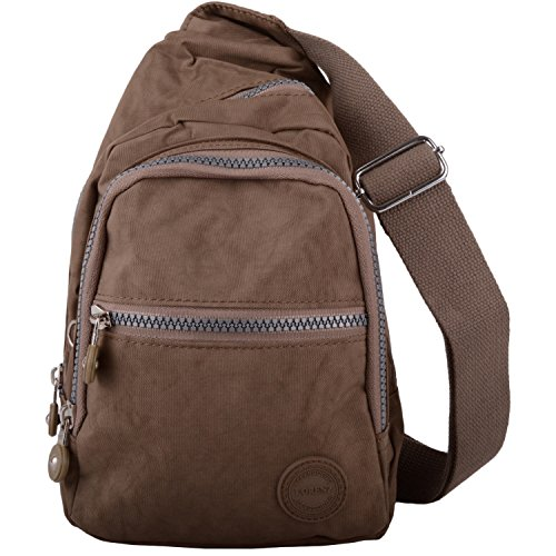 Mens/Womens Small Nylon Backpack/Ruck Sack/Shoulder Bag - Taupe
