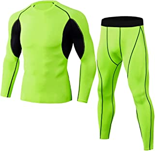 Men Track Suits Sports Sweatsuits Color Block Splice Compression Shirt Athletic Pants Tracksuit Gym Suits