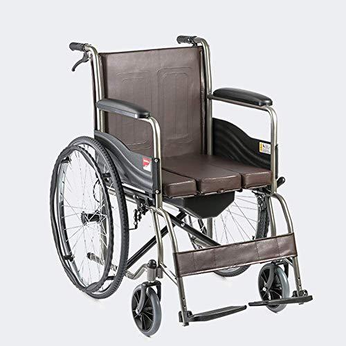 KANJJ-YU Silla médica de rehabilitación, sillas de Ruedas, sillas de Ruedas Lightweight Suministros Médicos conducción médica for Adultos, con Asiento Multi-Función con Movilidad Reducida Tabla Placa