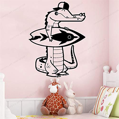 mlpnko Kinderzimmer Dekoration Krokodil Wandaufkleber abnehmbare Aufkleber Kinderzimmer Wandaufkleber Wandbilder 57X75cm