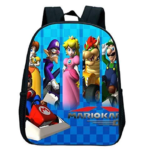 Mario Cartoon Schoolbag 12 Inch Super Mario School Backpack Children's Backpack Girls School Bags Anime Bag Backpacks for Girls Cartoon Bag Super Mario Backpack