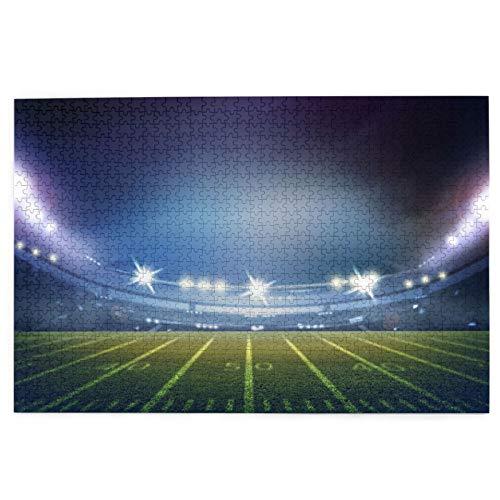 1000 Stück Puzzle,American Football Stadium 3D,Bild Puzzle Spiele für Erwachsene und Kinder Familie Hochzeit Abschlussgeschenk