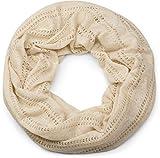 styleBREAKER sciarpa scaldacollo con motivo a maglia larga, sciarpa ad anello vintage, foulard, unisex 01017045, colore:Beige