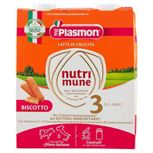 Plasmon Nutri-Mune Latte 3 Crescita Biscotto Liquido 2x500ml