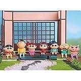 IHZ Juego de Caja ciega Genuina Crayon Shin-Chan, Figuras de la Familia Crayon Shin-Chan (Paquete de 7)