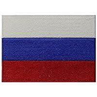 ロシア国旗刺繍エンブレム ロシア連邦アイロン接着 国家パッチ