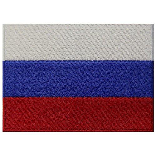 Russland Flagge Russische Föderation Nationales Emblem Bestickter Aufnäher zum Aufbügeln/Annähen