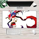 Gaming Mouse pad Disgaea Mouse Pad Mousepad Anti Slip Rubber Mouse Mat with Durable Stitched Edge for Office Gaming Laptop Computer PC Men Women Kids D 2XL(40x90cm)