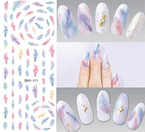 Nail Art Wasser Transfer Sticker Nail Sticker Tattoo Feder - DS271 Nail Sticker Tattoo - FashionLife