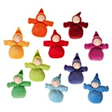 Grimm's Rainbow of Little Waldorf Dolls in Organic Cotton, Set of 10 Dwarfs without Beards by...