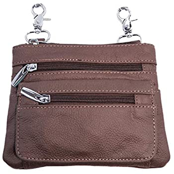 Silver Fever Leather Bike Rider Accordion Bag Cross Body Belt Phone Pack Pouch  Brown