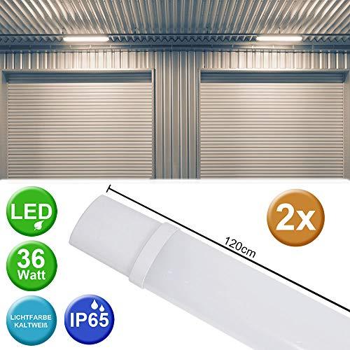2er Set 36 Watt SMD LED Wannen Decken Leuchte Strahler Industrie Hallen 6500 Kelvin Werkstatt Lampe