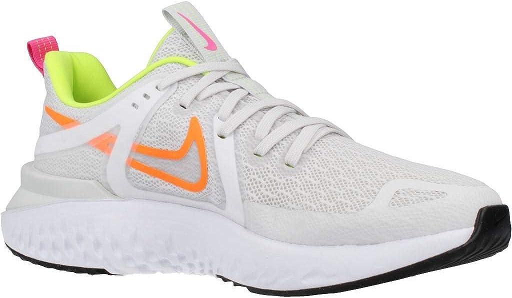 NIKE Legend React 2, Running Shoe para Mujer Platino Tinte Naranja Total Veneno Limón