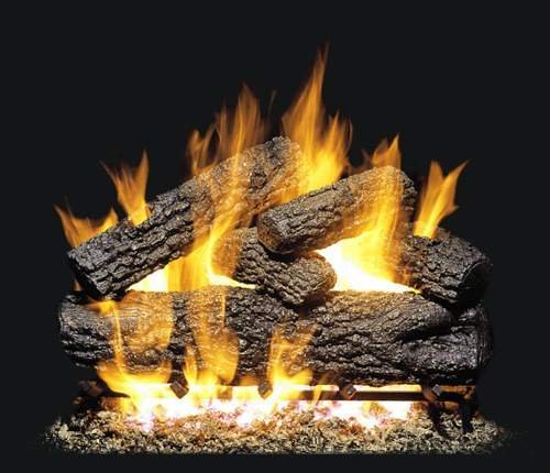 Buy R.H. Peterson POG4-30 - 30 Post Oak Vented Gas Logs with Burner for Natural Gas Fireplaces.