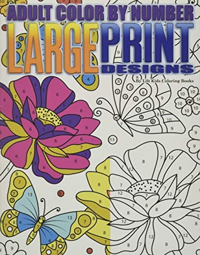 Adult Color By Number Large Print Designs Premium Adult Coloring Books Volume 14 product image
