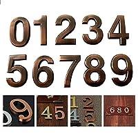現代ハウスホテルのドア住所プラーク3D数桁ステッカープレートサインにconvinientルーム門数0-9、ブロンズ色1個 (Color : Number 1)