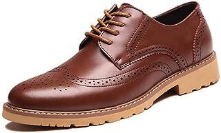 Saiyi Oxford Zapatos Oxford Sole Vestido de Novia Zapatos de Cuero Genuino de los nuevos de Caballero con Cordones de los ...