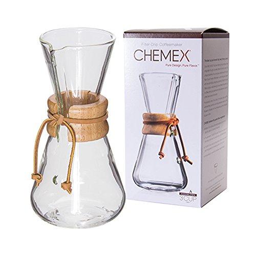 Chemex [ ケメックス ] コーヒーメーカー ハンドメイド 3カップ用 ドリップ式 CM-1 ハンドブロウ 新生活 [並行輸入品]の写真