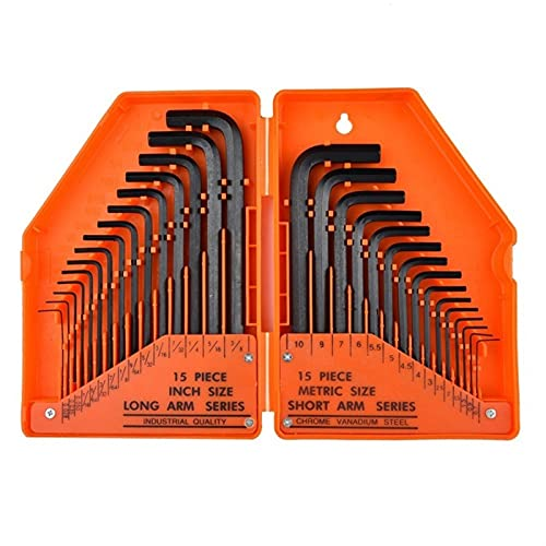 Llaves Allen Conjunto de destornillador de llave de L-tipo Llave Llave Allen Llavero Allen Set Llave Allen (Color : Orange Box)