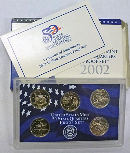 2002 S Statehood Quarters Proof Set Original Mint
