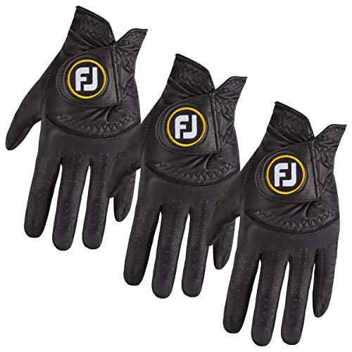 Footjoy Herren StaSof Wicking Cabretta Leder Linke Hand Golfhandschuh ML-3 Pack