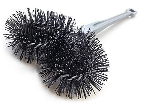 Rasenmäherbürste zur Reinigung Ihres Rasenmähers - Made in Germany - (schwarz)