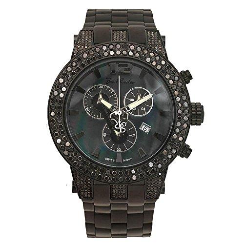 Joe Rodeo Reloj de hombre Diamond - Broadway Negro 6.5 ctw