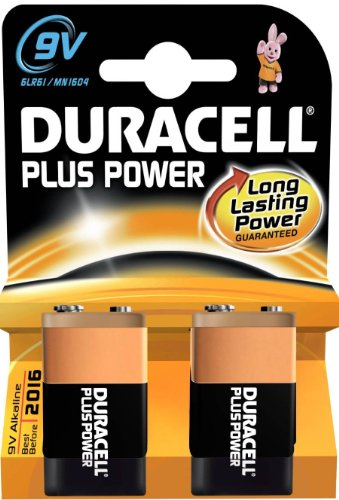 Duracell 2-Batterien 3 Blisters DURALOCK 9 V MN1604 6LR61 Power Plus