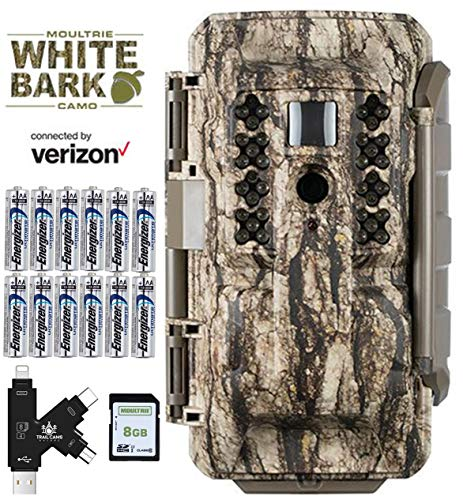 Moultrie Verizon XV7000i Cellular Trail Camera with Batteries, SD Card, Card Reader