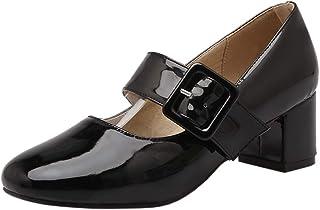 Melady Women Classic Mary Janes Pumps Mid Heels