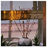 2 Pack Branch Lights - Led Branches Battery Powered Decorative Lights Tall Vase Filler Willow Twig Lighted Branch for Home Decoration Warm White - 30 Inches 20 LED Lights (Branches Light)