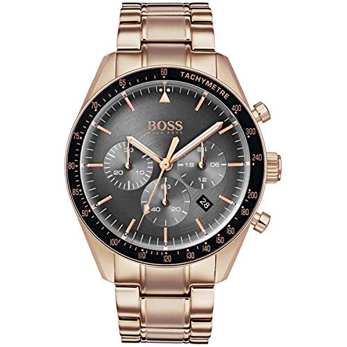 Hugo Boss Heren Chronograaf Quartz Horloge met Rose Goud Band 1513632
