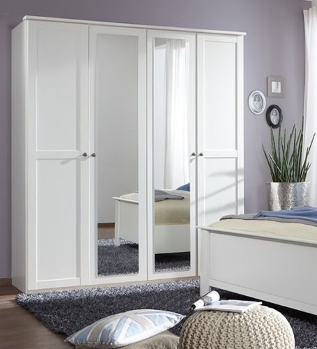 Germanica HANOVER Bedroom Furniture 4 Door Wardrobe in WHITE Colour [Includes Full Assembly Service] MADE IN GERMANY