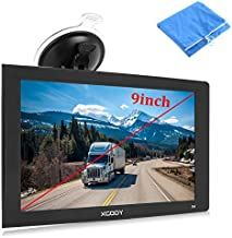 9inch Truck GPS Big Touchscreen Trucking GPS Xgody GPS Navigation for car Navigation 8GB ROM SAT NAV System Navigator Driving Alarm Lifetime Map Updates