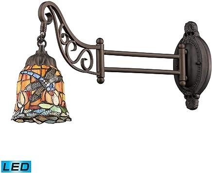 エルク照明079?–?12-led 1ライトLED壁取り付け用燭台、mix-n-matchコレクションから 079-TB-12-LED