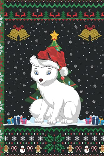 Ugly Arctic Wolf Christmas Composition Notebook: Arctic Wolf Lover Xmas Lighting Ugly Style Christmas Pajama Journals - Christmas Decoration Journal Notebook For Men, Women, Girls, Kids