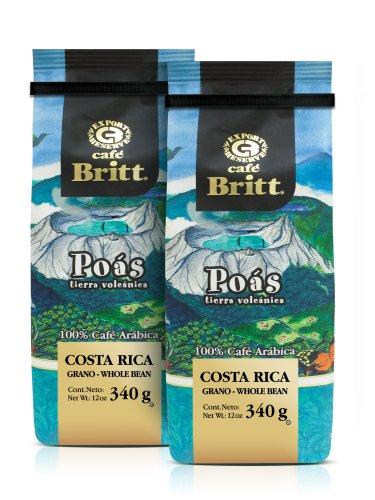 Gourmet Café Britt   Costa Rica   Poás Tierra Volcánica   100% Café Arábica   Bonen   340 g verpakking