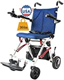 Rubicon Electric Wheelchair Super Lightweight Foldable Power Wheelchair Weight Only 36Lbs Support 220 Lbs Wheel Chair, Powerful Dual Motor Wheelchair