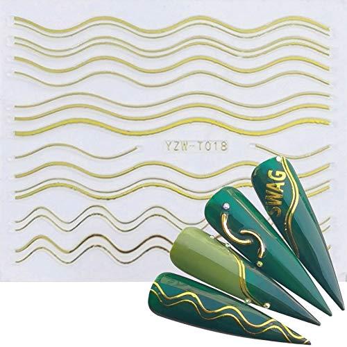BLOUR LCJ 1pc 3D Aufkleber für Nägel Letter Leaf Flower Slider Nail Art Maniküre Kleber Tipps Decals DIY Polish Decoration