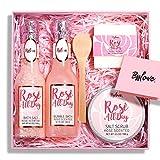 Geschenkset Frauen, Beauty Geschenke für Frauen, Spa-Korb mit Rose, Spa-Damen-Geschenkset mit...