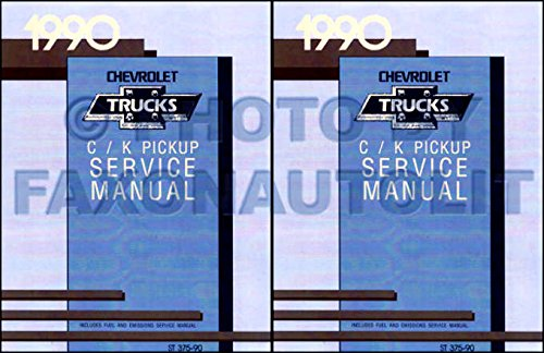 COMPLETE & UNABRIDGED 1990 CHEVROLET C/K TRUCK & PICKUP FACTORY REPAIR SHOP & SERVICE MANUAL - Covers all C & K Series Pickups 1/2 ton, 3/4 ton, 1 ton including 1500, 2500, 3500, Extended Cab, Dually,