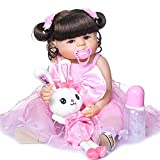 WEHQ Rebirth Doll, Juguetes para niños Reborn 23 Pulgadas 57 cm de Cuerpo Completo de Silicona Reborn Bebe Doll Muñeca de niña pequeña Soft Real Touch Flexible con anatómicamente Correcto