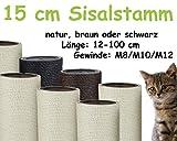 Kratzbaumland 15 cm Sisalstamm, Ersatzstamm für Kratzbaum: Länge: 12 cm/Gewinde: 10...