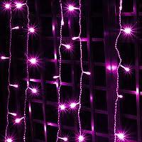 LED イルミネーション つらら ナイアガラ ライト ピンク 180球 (3.25m) 28パターン コントローラー付/PSE取得品 防水 対応