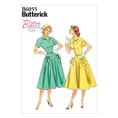 Butterick Schnittmuster 6055–Vintage-Stil, Kleid und Gürtel