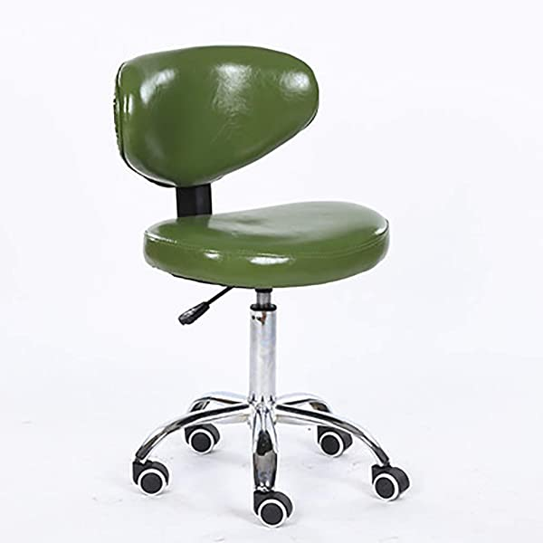 Office Swivel Vintage Design Chair Retro Dining Style Kitchen Office Chair Lounge Chair With Backrest Color Green